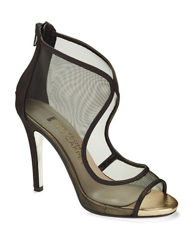 E!LIVE FROM THE RED CARPET Merideth Mesh Cutout Sandals