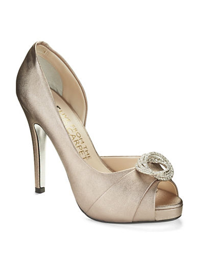 E!LIVE FROM THE RED CARPET Sara Satin Pumps