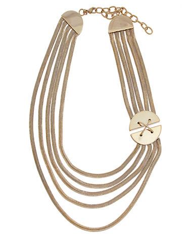 RACHEL ZOEGold Tone Multi Row Necklace