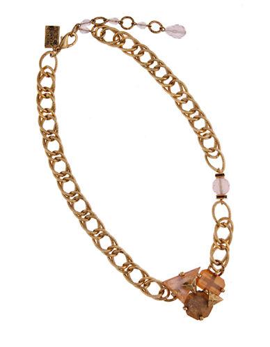 ERICKSON BEAMON ROCKSGilded Lily Cluster Gemstone Pendant Necklace