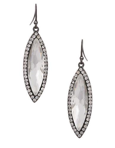 ERICKSON BEAMON ROCKSHeart of Glass Clear Oval Stone Drop Earrings