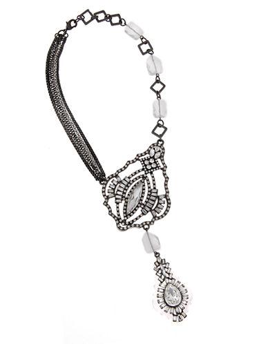 ERICKSON BEAMON ROCKSHeart of Glass Hematite-Tone Five-Chain Statement Necklace
