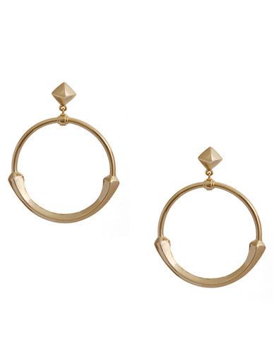 RACHEL ZOEFacets 14K Gold Circle Drop Earrings