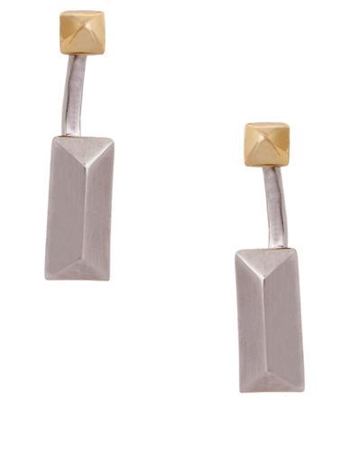 RACHEL ZOEFacets Two-Tone Geometric Drop Earrings