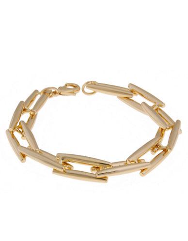 Rachel Zoe Facets 14K Gold Link Bracelet
