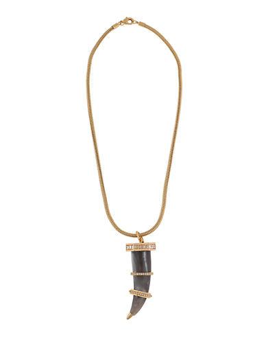 RACHEL ZOECubic Zirconia Pave-Accented Horn Pendant Necklace