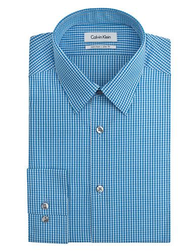 CALVIN KLEINSlim Fit Graphic Check Non-Iron Dress Shirt