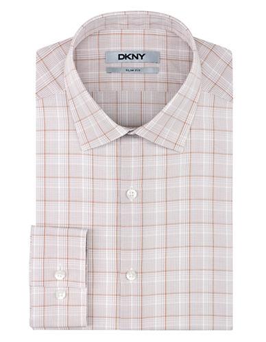 DKNYSlim Fit Plaid Check Dress Shirt