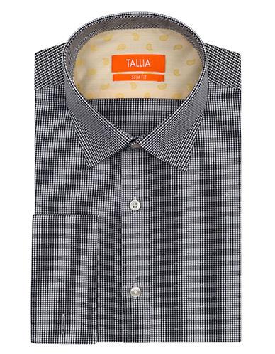 TALLIA ORANGESlim Fit Micro Gingham Dress Shirt