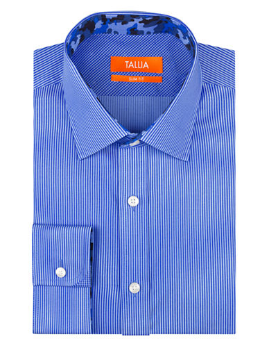 TALLIA ORANGE Slim Fit Pencil Stripe Dress Shirt