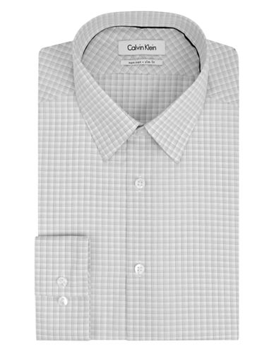 CALVIN KLEINSlim Fit Graphic Check Dress Shirt