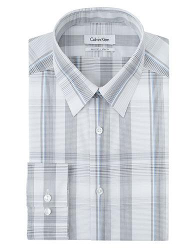 CALVIN KLEINSlim Fit Plaid Dress Shirt