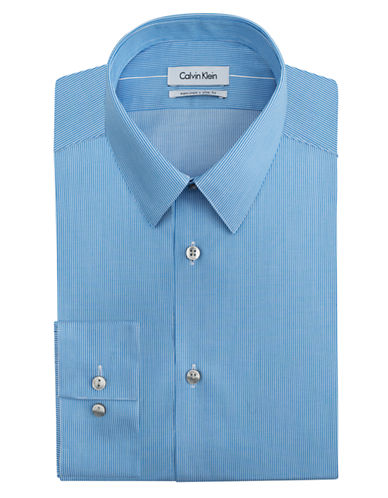 CALVIN KLEIN Slim Fit Pencil Stripe Dress Shirt
