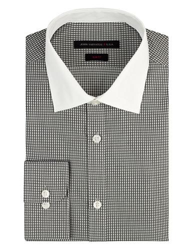 JOHN VARVATOS U.S.A.Slim Fit Micro Check Dress Shirt
