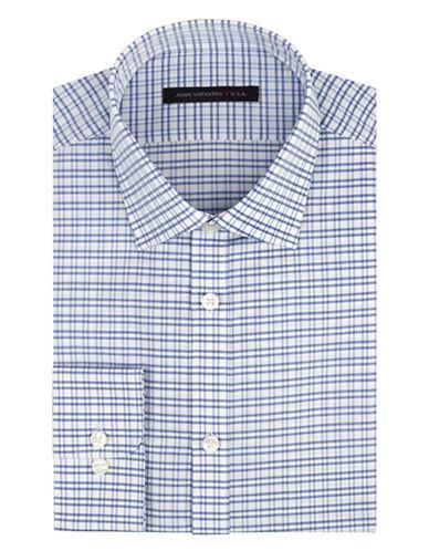 JOHN VARVATOS U.S.A.Slim Fit Graphic Check Dress Shirt