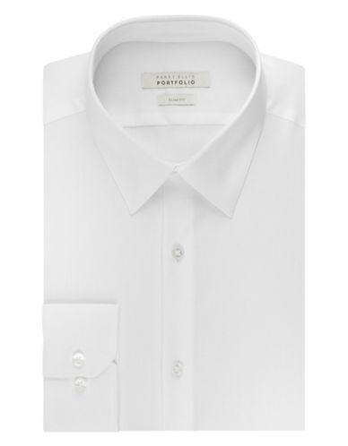 PERRY ELLISWrinkle Free Solid Dress Shirt