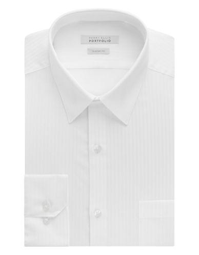 PERRY ELLISWrinkle Free Striped Dress Shirt