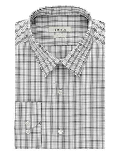PERRY ELLISWrinkle Free Plaid Dress Shirt