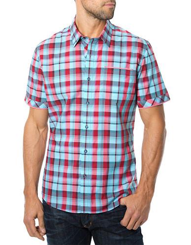 7 DIAMONDSTake Care Plaid Sport Shirt