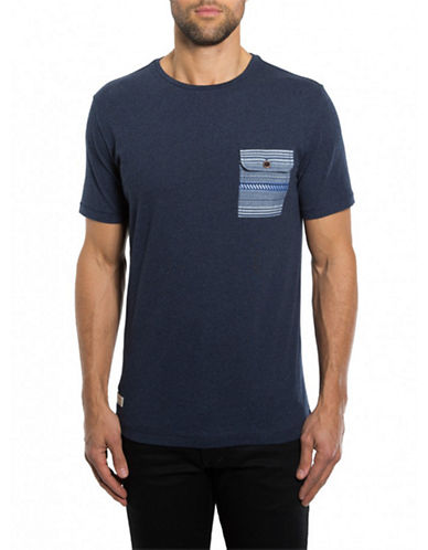 7 DIAMONDS Davin Contrast Pocket T-Shirt