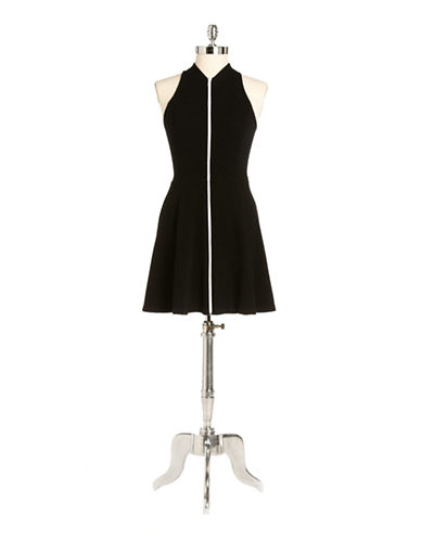 EIGHT SIXTYContrast Zipper Fit And Flare Dress