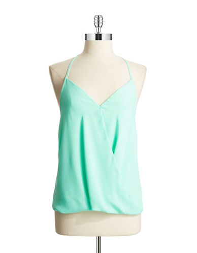 EIGHT SIXTY Drape Front Halter Top
