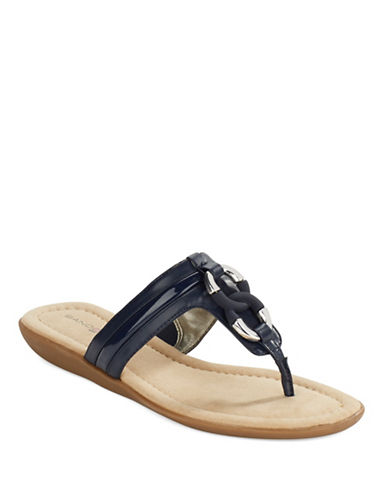 BANDOLINO Jael Chainklink Accented Thong Sandals