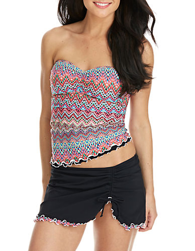 Shop Profile By Gottex online and buy Profile By Gottex Party Time Ruffled Bandini Top dress online
