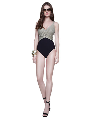 Shop Gottex online and buy Gottex Gold Rush Surplice One Piece Swimsuit swimwear online
