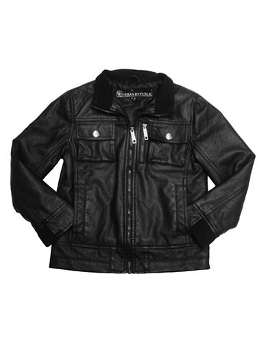 URBAN REPUBLIC Boys 2-7 Faux Leather Motorcycle Jacket