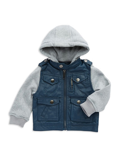 URBAN REPUBLIC Baby Boys Contrast Moto Jacket