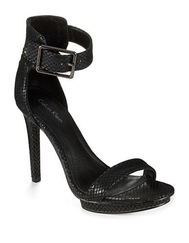 Calvin Klein Vivian Snakeskin Heels