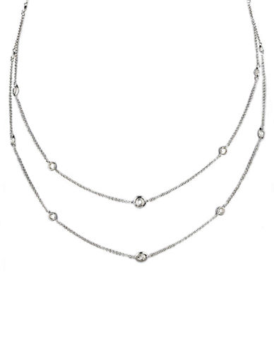 NADRIRhodium Plated Cubic Zirconia 54 Inch Long Necklace