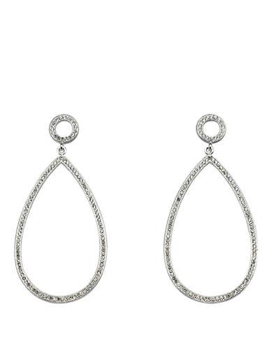 NADRICrystal Teardrop Hoop Earrings