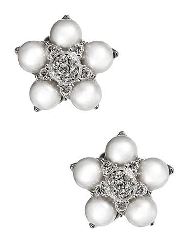 NADRIPearl and Sparkle Flower Stud Earrings