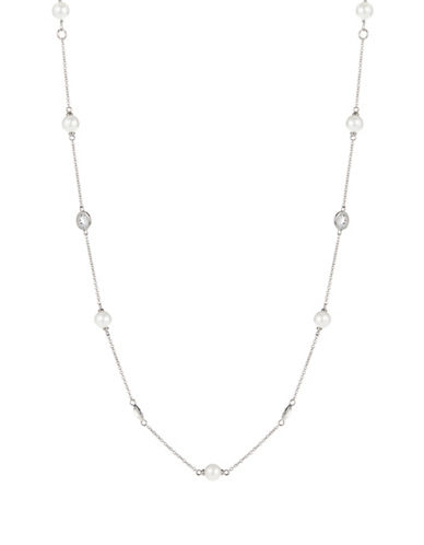 NADRI Faux Pearl Collar Necklace