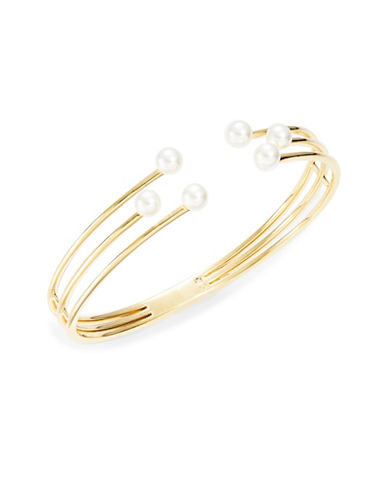 NADRIGolden Wire and Faux Pearl Hinge Bracelet