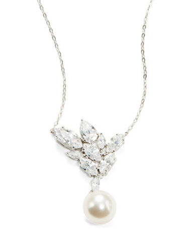 NADRICubic Zirconia and Faux Pearl Pendant Necklace