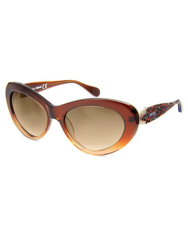 JUST CAVALLI Animal Print Detail Cat Eye Sunglasses
