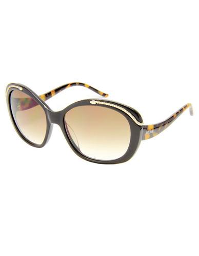 JUST CAVALLIGold-Tone and Tortoise Oval Sunglasses