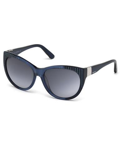 SWAROVSKIStudded Oval Sunglasses