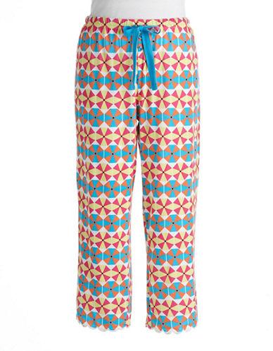 LORD & TAYLORPrinted Cotton Drawstring Cropped Pants