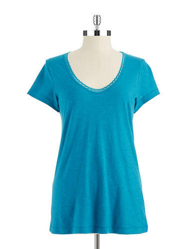 NAUTICA Scoop Neck Tee