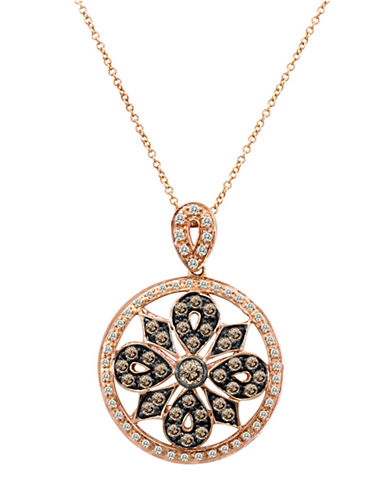 LEVIAN Chocolate Diamond Pendant in 14 Kt Strawberry Gold