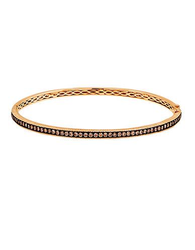 Levian Gold Diamond Bangle Bracelet in 14 Kt Strawberry Gold