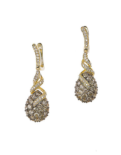 LEVIANDiamond 14K Yellow Gold Drop Earrings, 2.36 TCW