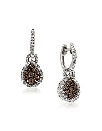 LEVIAN 14Kt White Gold and Diamond Drop Earrings