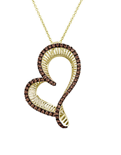 LEVIAN14Kt Yellow Gold and Diamond Heart Pendant Necklace