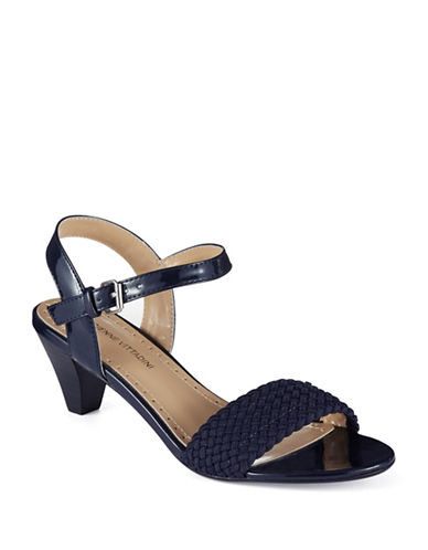 ADRIENNE VITTADINICarinda Woven Leather Heeled Sandals