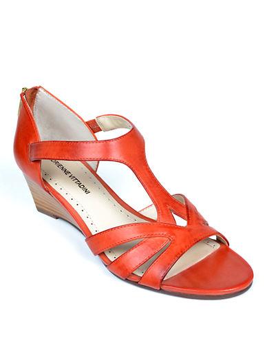 ADRIENNE VITTADINICorette Patent Leather Wedge Sandals